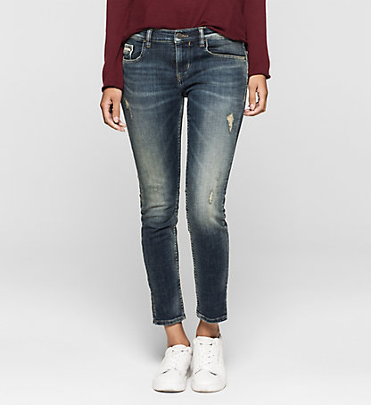 CALVIN KLEIN JEANS Mid-Rise Skinny Ankle-Jeans J20J200951920