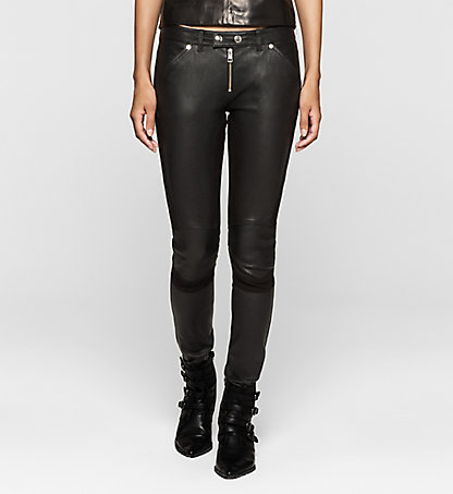 CALVIN KLEIN JEANS Leather Biker Trousers J20J201215099