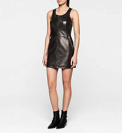 CALVIN KLEIN JEANS Leather Dress J20J201218099