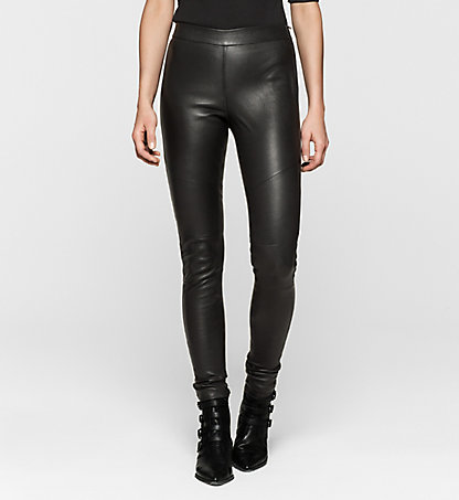 CALVIN KLEIN JEANS Leather Leggings J20J201221099
