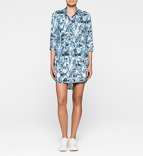 Shirt Dress - INDIGO FLOWER AOP - CK JEANS DRESSES - main image