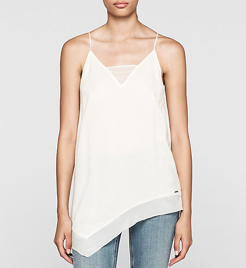 CKCOLLECTION Crepe Camisole - CLOUD DANCER - CK JEANS  - main image
