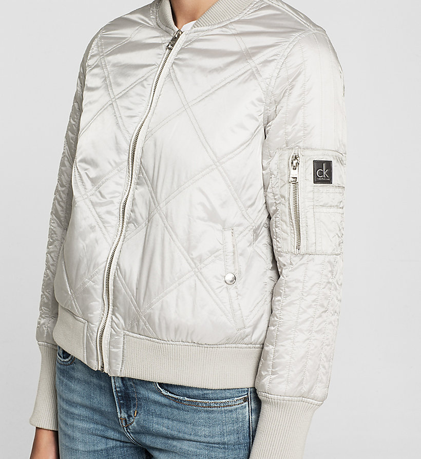 CKJEANS Quilted Bomber Jacket - VAPOR BLUE - CK JEANS OUTERWEAR - detail image 2