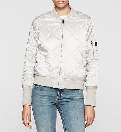 CALVIN KLEIN JEANS Quilted Bomber Jacket - Opal J20J201238471