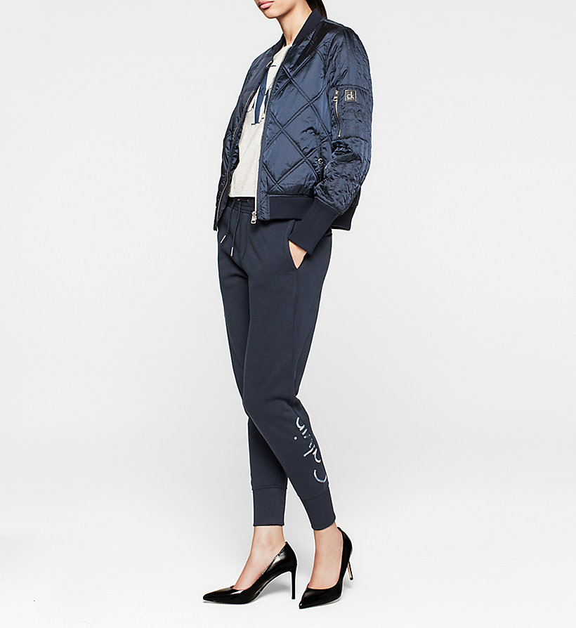 CKJEANS Quilted Bomber Jacket - NAVY BLAZER - CK JEANS OUTERWEAR - detail image 1