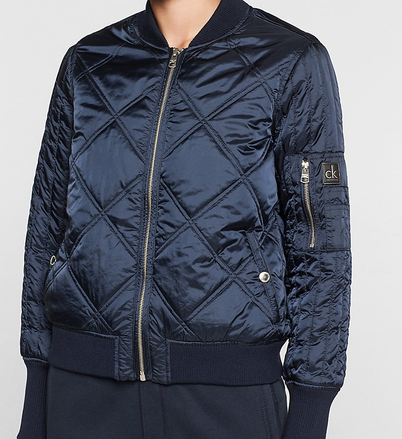 CKJEANS Quilted Bomber Jacket - NAVY BLAZER - CK JEANS OUTERWEAR - detail image 2