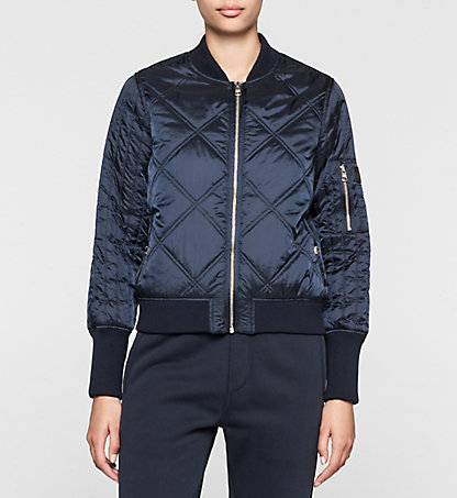 CALVIN KLEIN JEANS Quilted Bomber Jacket - Opal J20J201238472