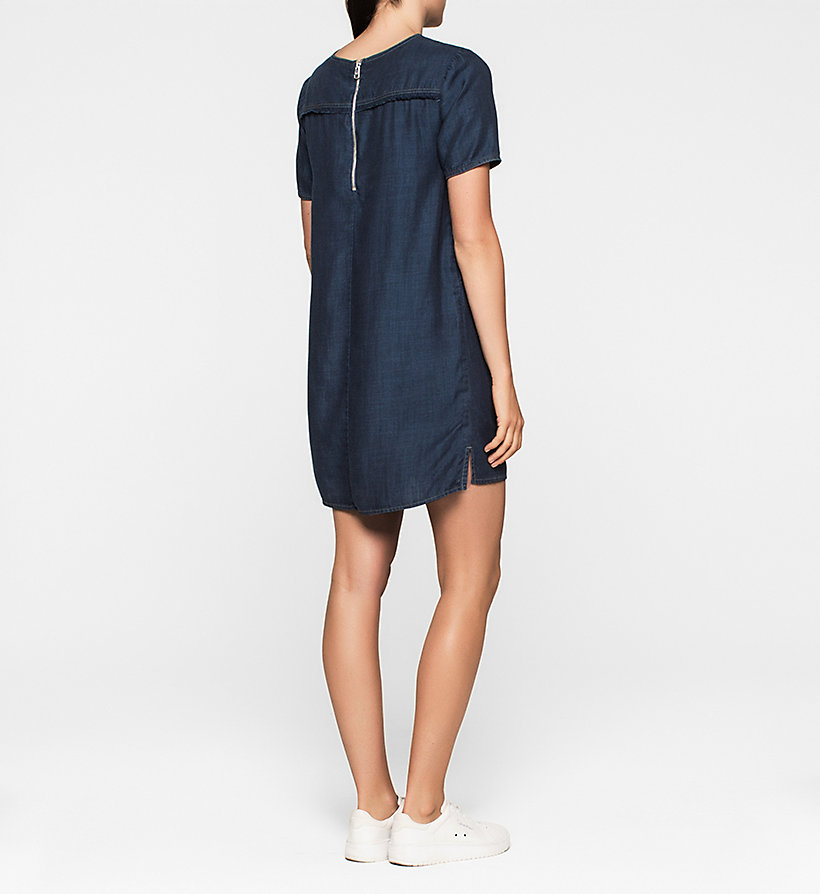 CKJEANS Denim Dress - DARK INDIGO - CK JEANS DRESSES - detail image 1
