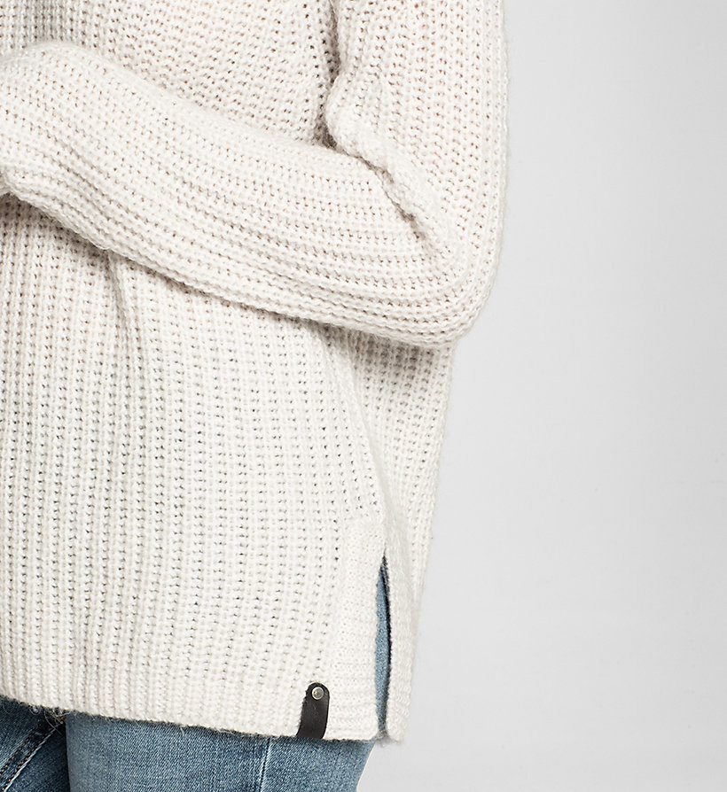 CKJEANS Wool Blend Sweater - CLOUD DANCER HEATHER - CK JEANS JUMPERS - detail image 2