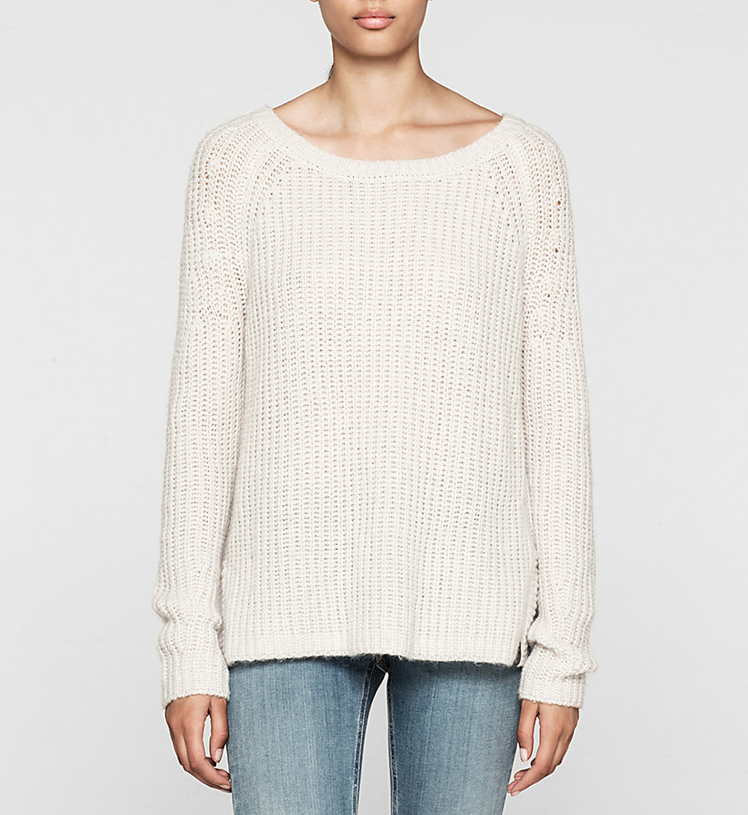 CKJEANS Wool Blend Sweater - CLOUD DANCER HEATHER - CK JEANS JUMPERS - main image