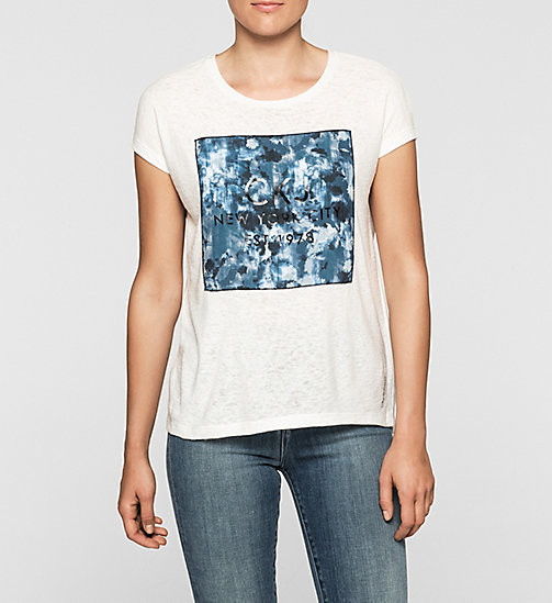 CALVINKLEIN T-shirt met logo - CLOUD DANCER - CK JEANS T-SHIRTS - main image