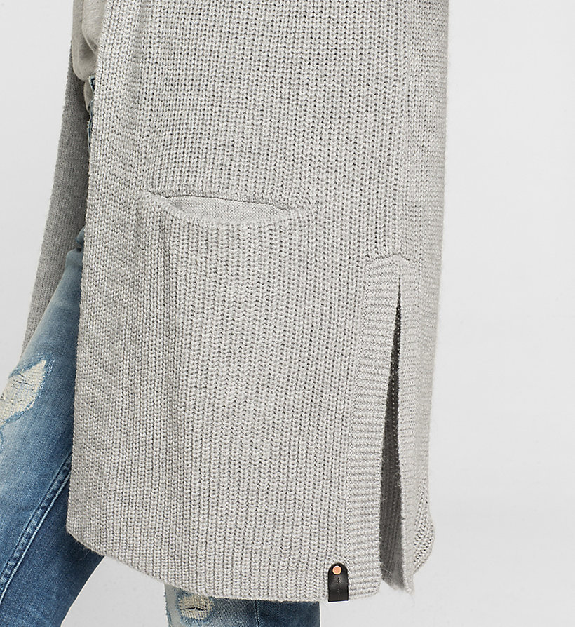 CKJEANS Cardigan mit Kapute aus Wollgemisch - LIGHT GREY HEATHER - CK JEANS PULLOVER - main image 2
