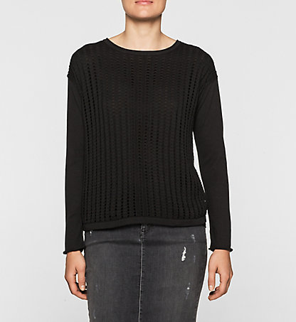 CALVIN KLEIN JEANS Double Layer Sweater - Shula J20J201281099