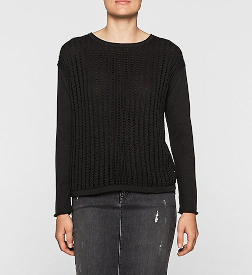 Double Layer Sweater - CK BLACK - CK JEANS JUMPERS - main image