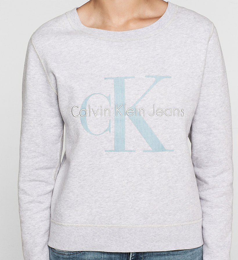 CKJEANS Logo Sweatshirt - WHITE HEATHER - CK JEANS UNDERWEAR - detail image 2