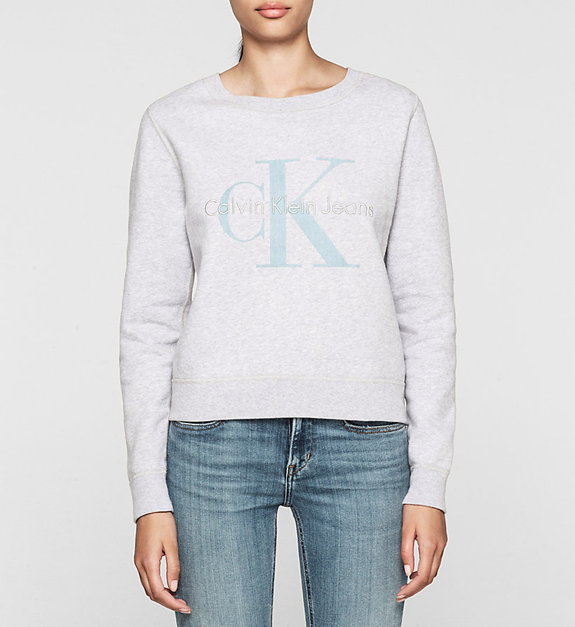 CKJEANS Logo Sweatshirt - WHITE HEATHER - CK JEANS UNDERWEAR - main image