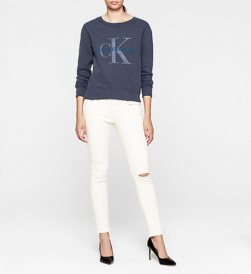 CKCOLLECTION Logo-Sweatshirt - NAVY BLAZER - CK JEANS  - main image 1