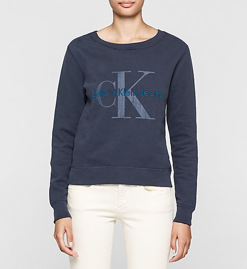 CKCOLLECTION Logo-Sweatshirt - NAVY BLAZER - CK JEANS  - main image