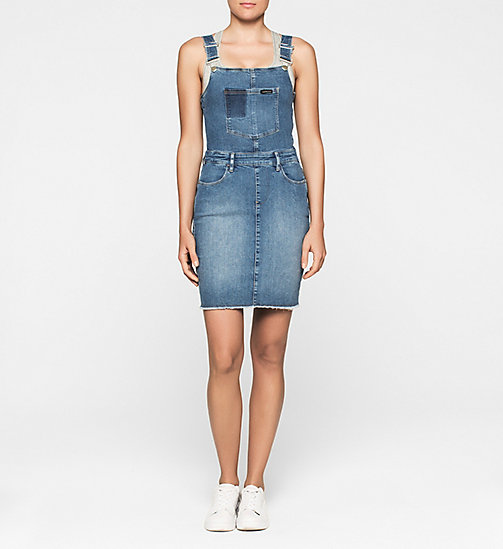 CALVINKLEIN Dungaree Dress - UNIVERSE BLUE - CK JEANS DRESSES - main image