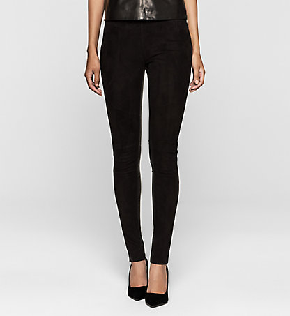 CALVIN KLEIN JEANS Leather Leggings J20J204621099