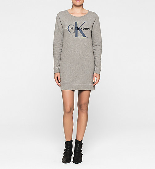 CALVINKLEIN Sweater Dress - LIGHT GREY HEATHER - CK JEANS DRESSES - main image
