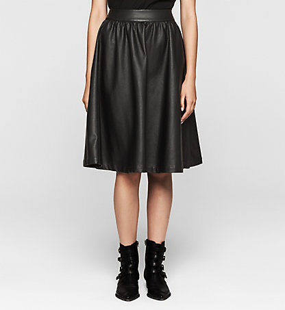 CALVIN KLEIN JEANS Faux Leather Skirt - Kalina J20J204655099