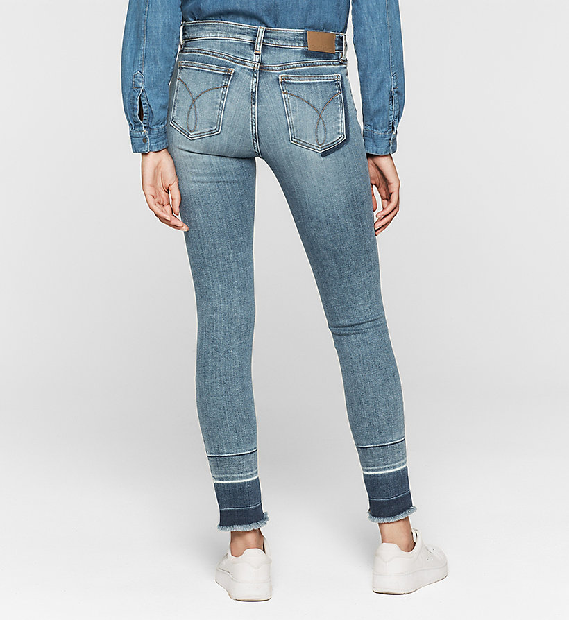 CKJEANS Mid Rise Skinny Jeans - OXYGEN BLUE - CK JEANS JEANS - detail image 1