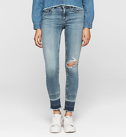 CALVIN KLEIN JEANS Mid-Rise Skinny-Jeans J20J204669911