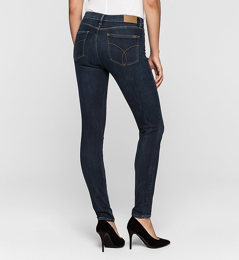 CKJEANS High Rise Skinny Jeans - SILK DARK - CK JEANS JEANS - detail image 1