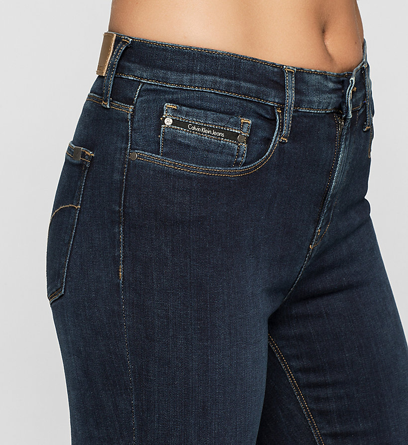 CKJEANS High Rise Skinny Jeans - SILK DARK - CK JEANS JEANS - detail image 2