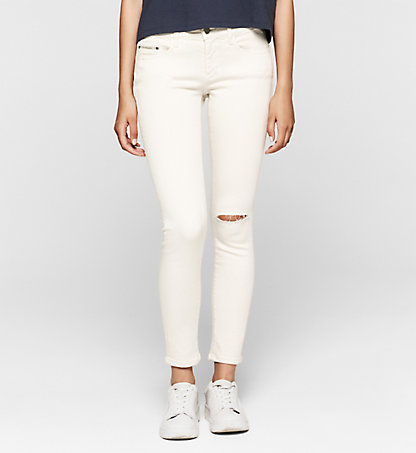CALVIN KLEIN JEANS Mid-Rise Skinny-Ankle-Jeans J20J204685901