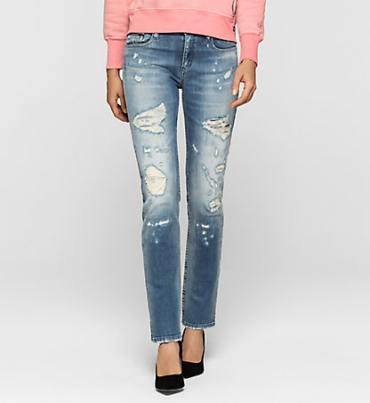 CALVIN KLEIN JEANS Mid-Rise Straight-Jeans J20J204688911