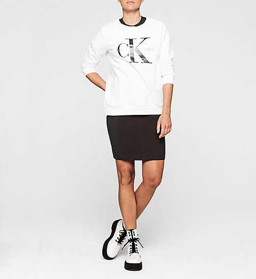 CKCOLLECTION Logo-Sweatshirt - BRIGHT WHITE - CALVIN KLEIN JEANS  - main image 1