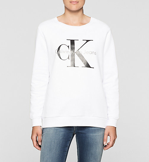 CKCOLLECTION Felpa con logo - BRIGHT WHITE - CALVIN KLEIN JEANS  - immagine principale