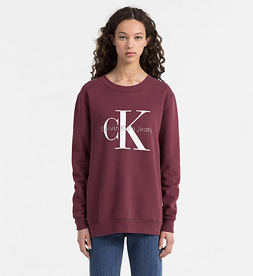 CKCOLLECTION Felpa con logo - FIG - CALVIN KLEIN JEANS  - immagine principale