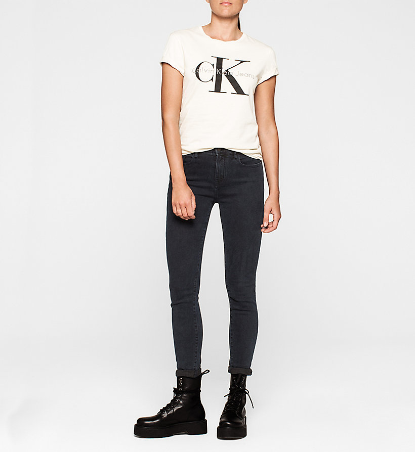 CKJEANS Slim Logo-T-Shirt - MOONBEAM - CK JEANS T-SHIRTS - main image 1