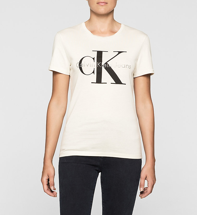 CKJEANS Slim Logo T-shirt - MOONBEAM - CK JEANS T-SHIRTS - main image