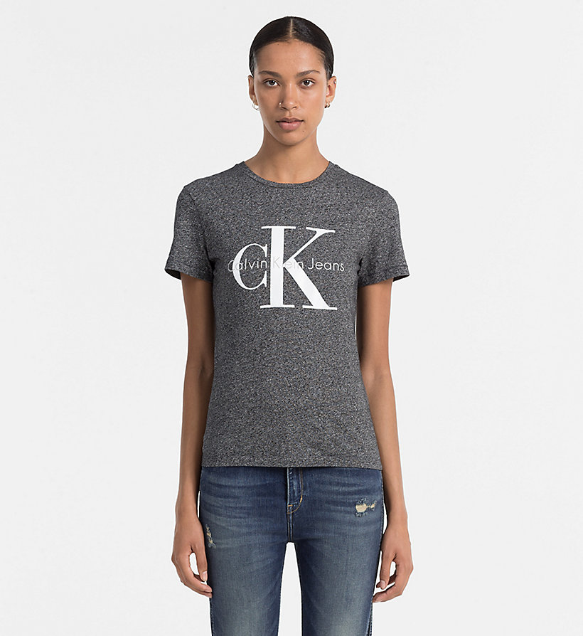 CKJEANS Slim Logo-T-Shirt - BLACK HEATHER - CK JEANS T-SHIRTS - main image
