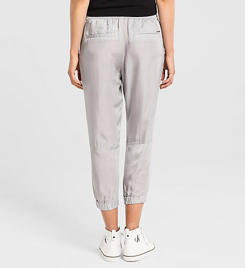 CALVINKLEIN Cupro Sweatpants - QUIET GREY - CK JEANS TROUSERS - detail image 1