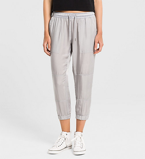 CALVINKLEIN Cupro Sweatpants - QUIET GREY - CK JEANS TROUSERS - main image