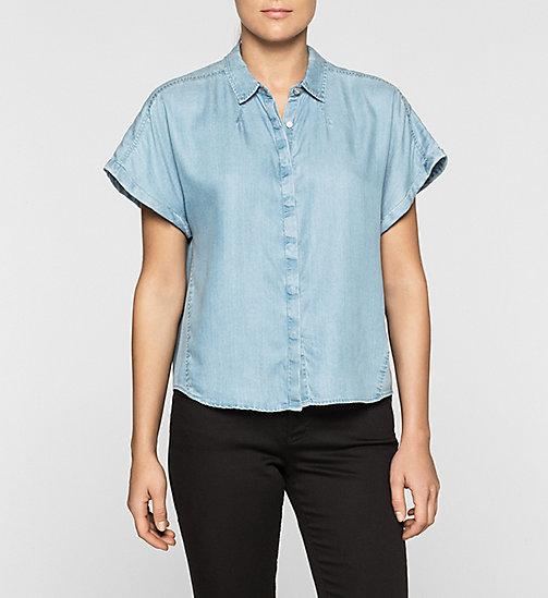 CKJEANS Boxy Denim Shirt - MID INDIGO - CK JEANS DENIM REFRESH - main image