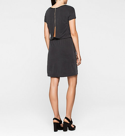 CALVINKLEIN Slit Back Jersey Dress - CK BLACK - CK JEANS DRESSES - detail image 1