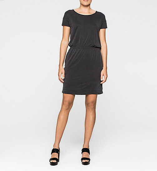 CALVINKLEIN Slit Back Jersey Dress - CK BLACK - CK JEANS DRESSES - main image