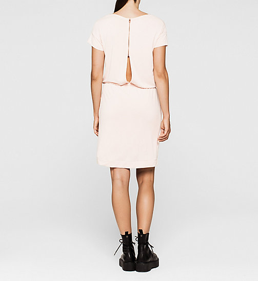 CALVINKLEIN Slit Back Jersey Dress - PALE DOGWOOD - CK JEANS DRESSES - detail image 1