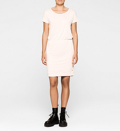 CALVINKLEIN Slit Back Jersey Dress - PALE DOGWOOD - CK JEANS DRESSES - main image