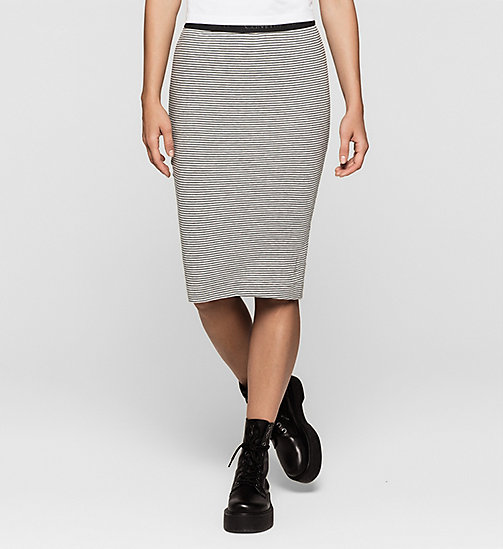 CKJEANS Stripe Jersey Skirt - LIGHT GREY HEATHER / CK BLACK - CK JEANS Up to 50% - main image