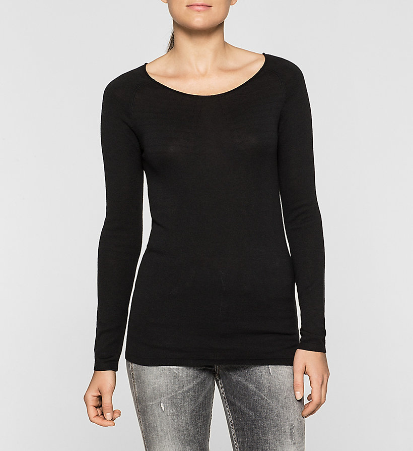 CKJEANS Cotton Silk Sweater - CK BLACK - CK JEANS JUMPERS - main image