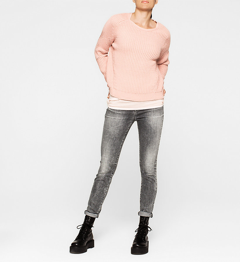 CKJEANS Cotton Silk Sweater - PALE DOGWOOD - CK JEANS JUMPERS - detail image 1