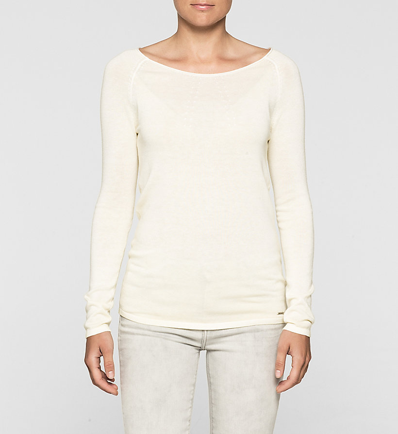 CKJEANS Cotton Silk Sweater - PEAR SORBET - CK JEANS JUMPERS - main image