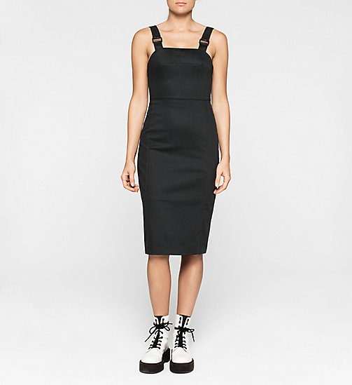 CALVINKLEIN Midi Pinafore Dress - CK BLACK - CK JEANS DRESSES - main image